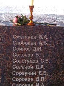 Парк Швейцария. Памятник погибшим участникам в респ. Афганистан и Чечне