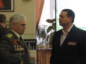 Ветераны боевых действий полковники в отставке Чугунов В.И., Щеховцов Г.Г.